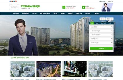Thiết kế website bất động sản 02