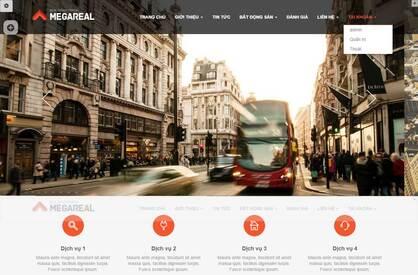 Thiết kế website bất động sản 03