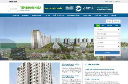 Thiết kế website bất động sản 04