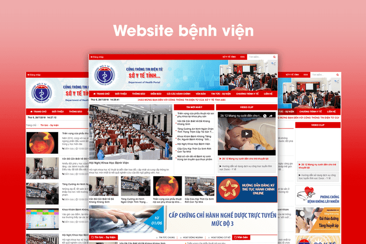 Xây dựng website sở y tế