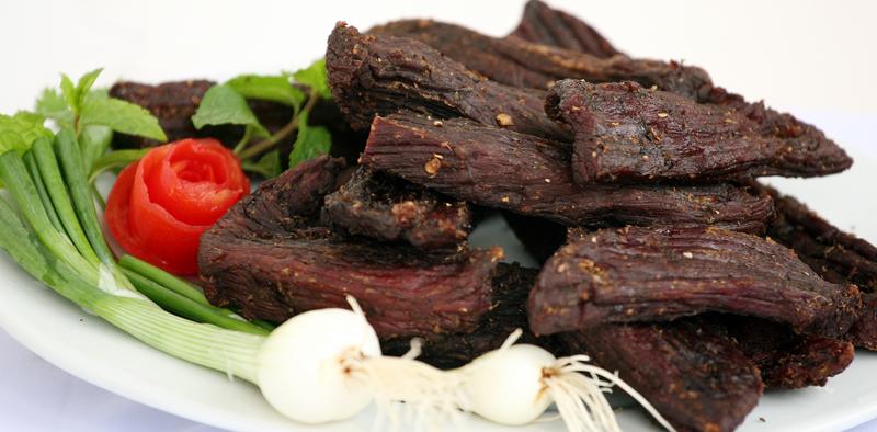 Thịt châu gác bếp